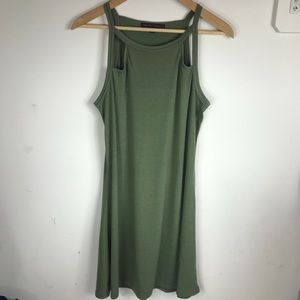 Dresses & Skirts - Green Cut Out Dress